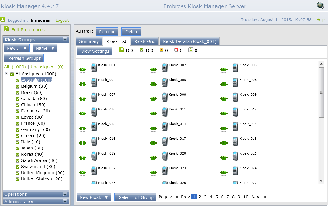 kiosk manager software screen 1